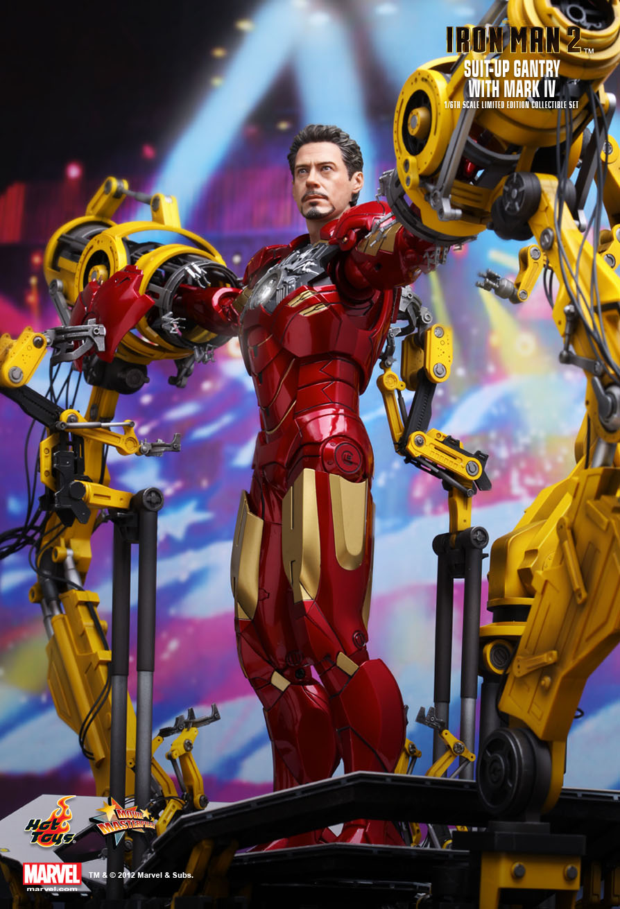 hot toys iron man 2 suitup gantry with mark iv 16th