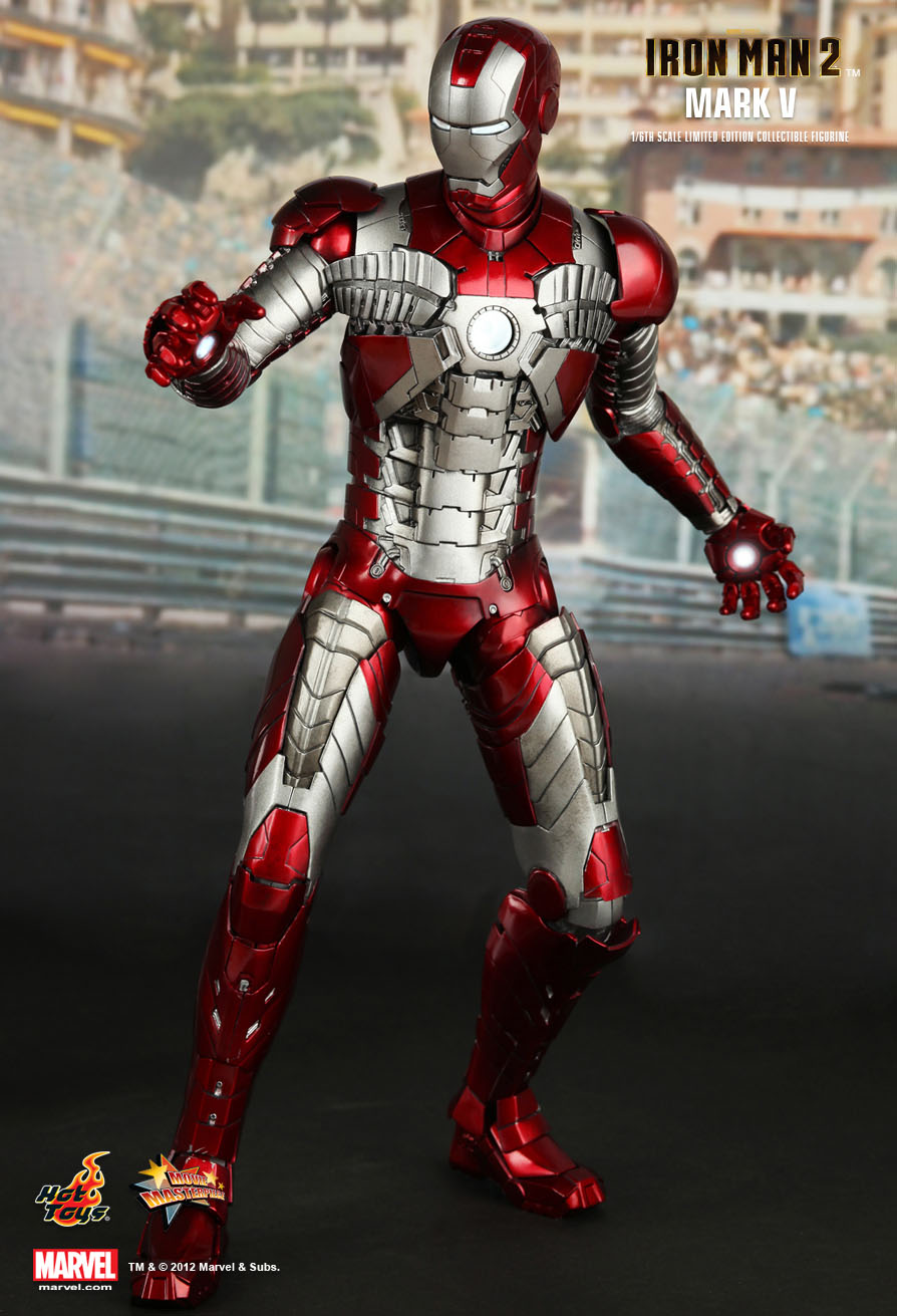 Hot Toys : Iron Man 2 - Mark V 1/6th scale Collectible ... Iron Man 3 Arc Reactor Logo