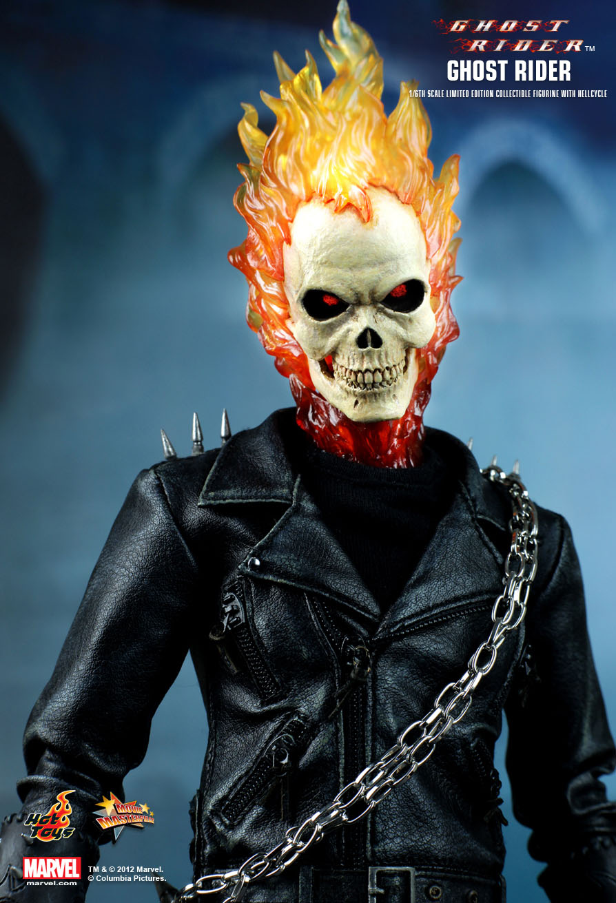 Hot Toys : Ghost Rider - Ghost Rider with Hellcycle 1/6th scale ...