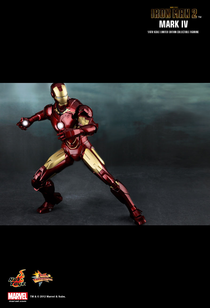 Hot Toys Iron Man 2 Mark Iv 1 6th Scale Limited