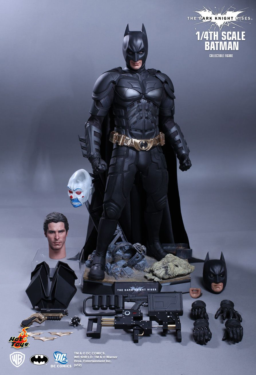 hot toys tdkr 1 4th scale batman qs001 full reveal. Black Bedroom Furniture Sets. Home Design Ideas