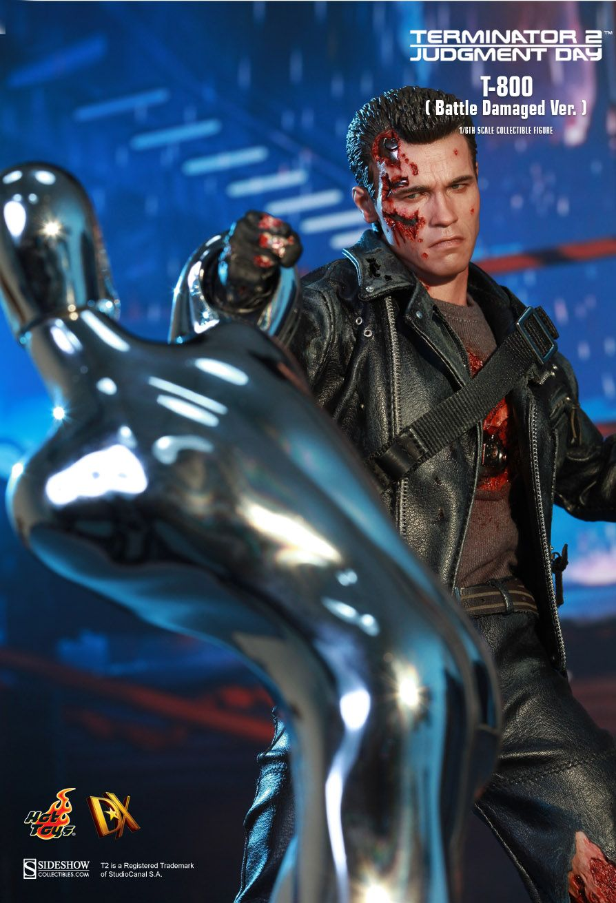 Hot Toys Terminator 2 Judgment Day T 800 Battle