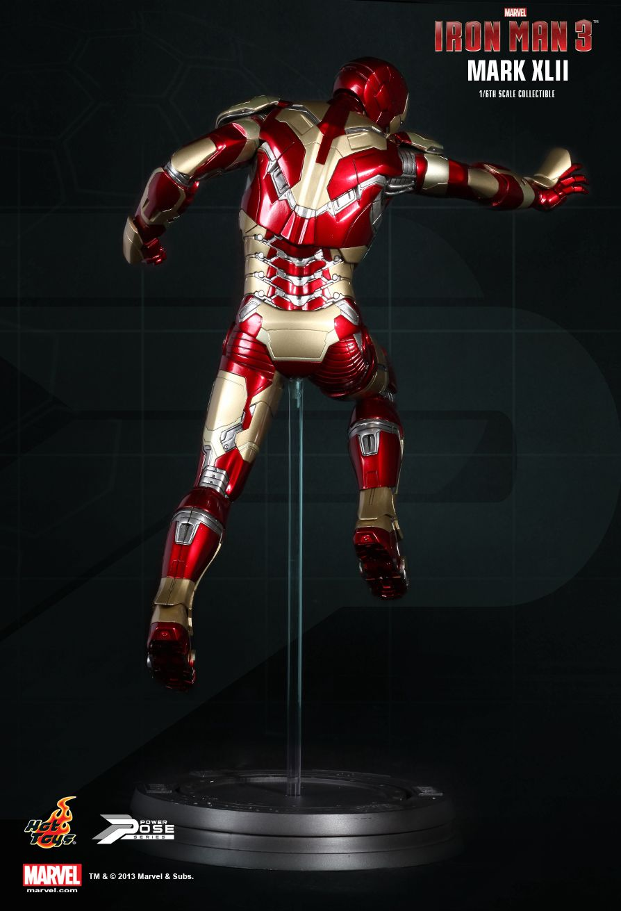 Hot Toys : Iron Man 3 - Power Pose Mark XLII 1/6th scale ...