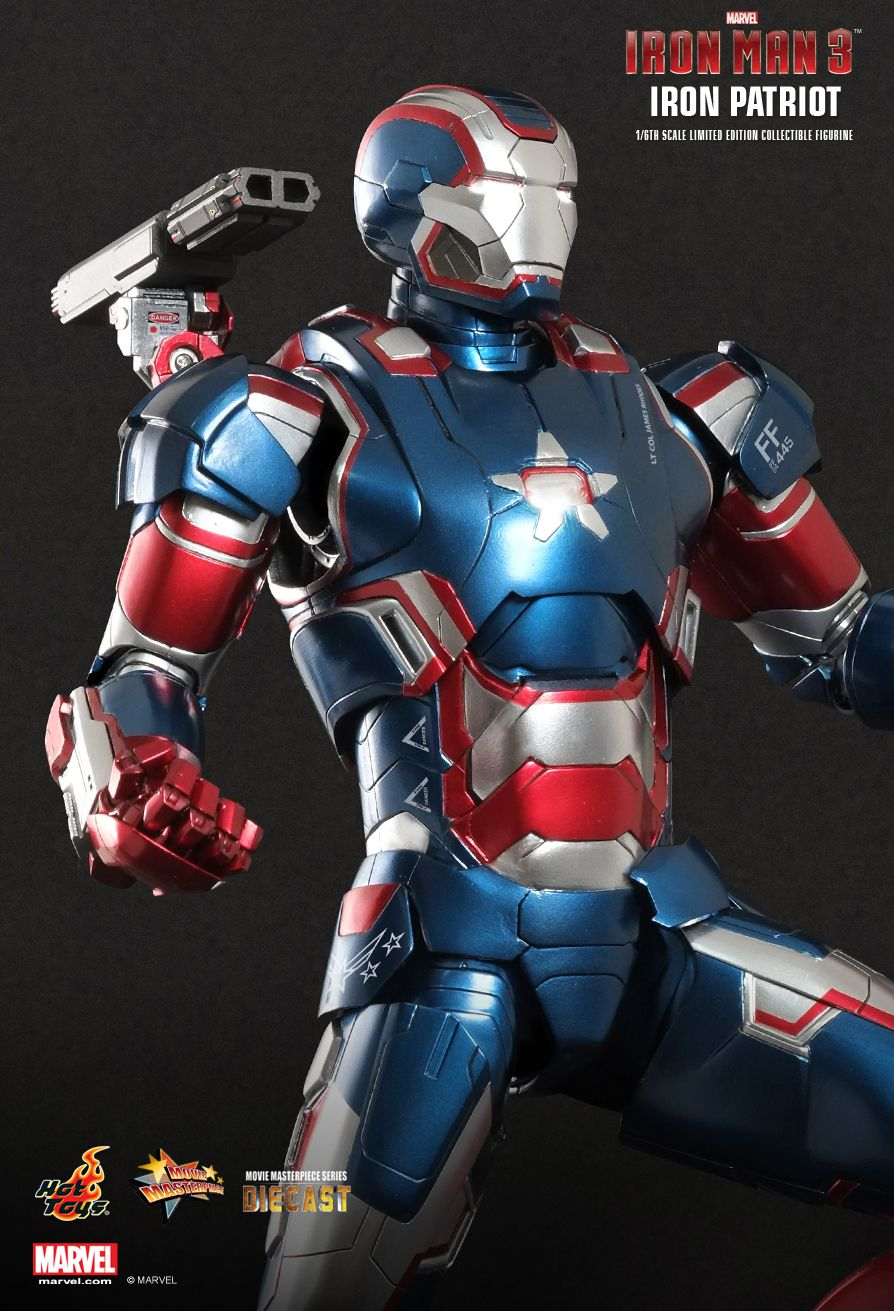 Hot Toys Iron Man 3 Iron Patriot 1 6th Scale Limited