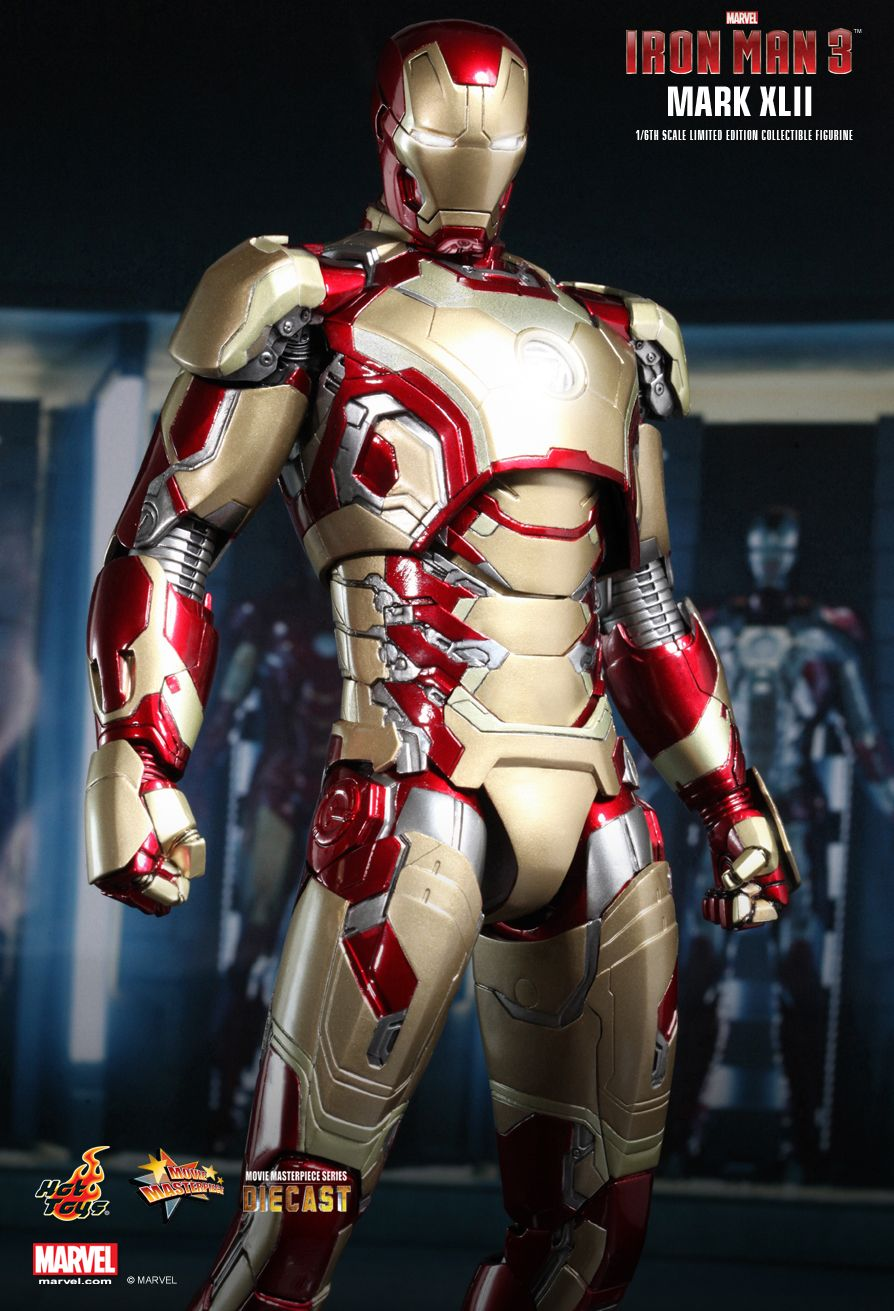 1/6 Hot Toys - Iron Man 3: MMS197D02 Mark XLII Diecast ...