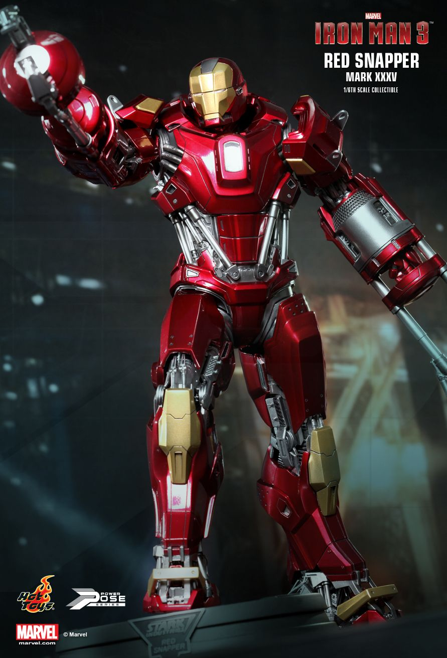 Hot Toys : Iron Man 3 - Power Pose Red Snapper 1/6th scale