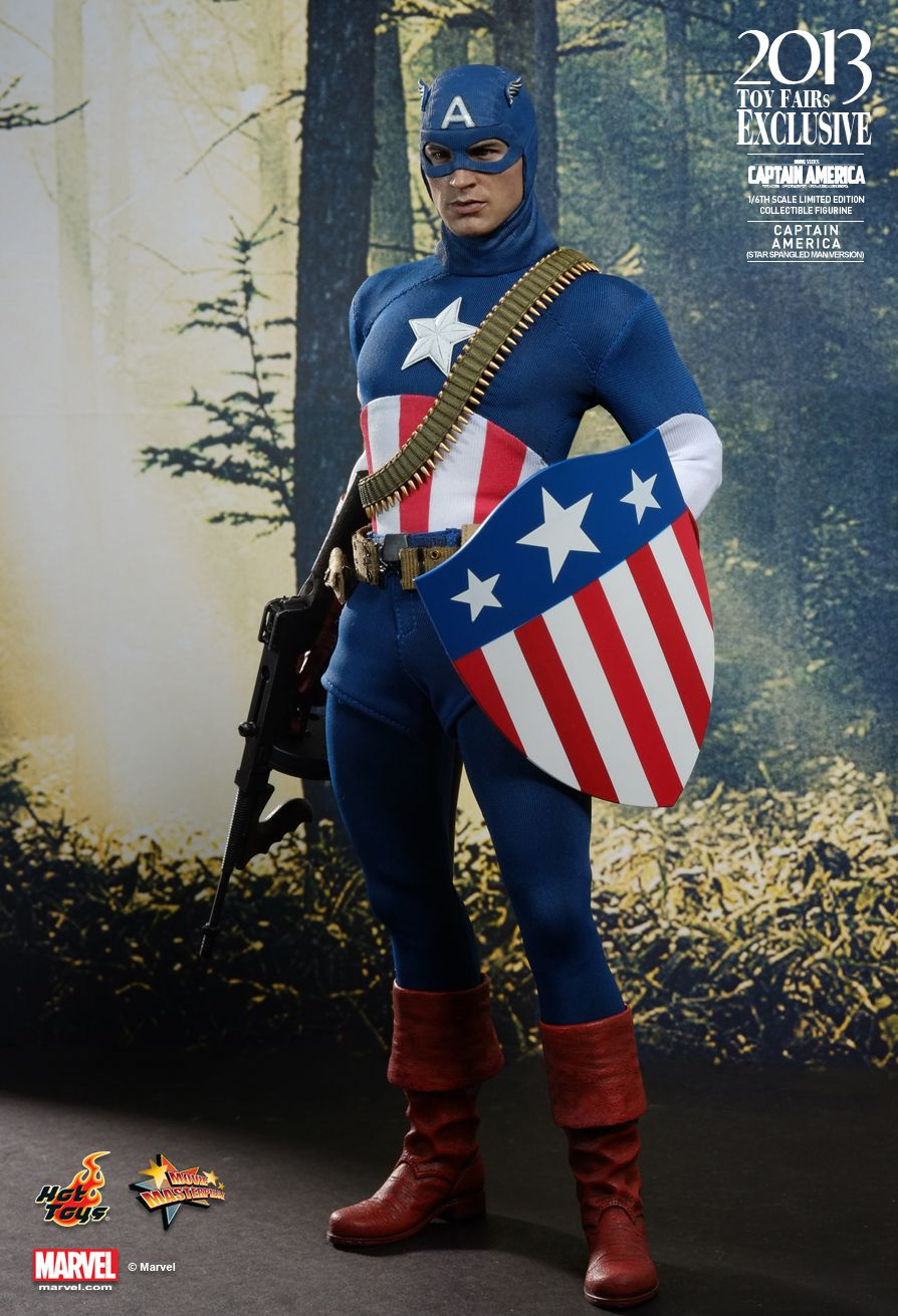 1//6 STRAP Hot Toys The First Avengers CAPTAIN AMERICA Star Spangled Man