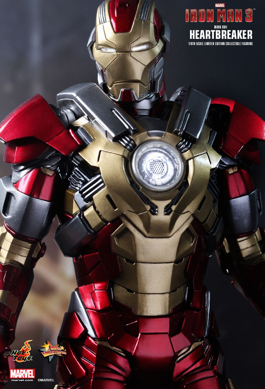 hot toys iron man 3 heartbreaker mark xvii 16th scale limited edition collectible figurine