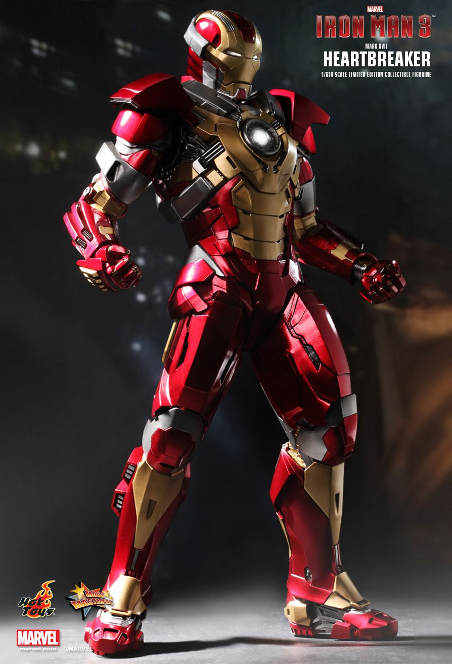 Iron Man 3 Toys ~ Hot toys iron man heartbreaker mark xvii th