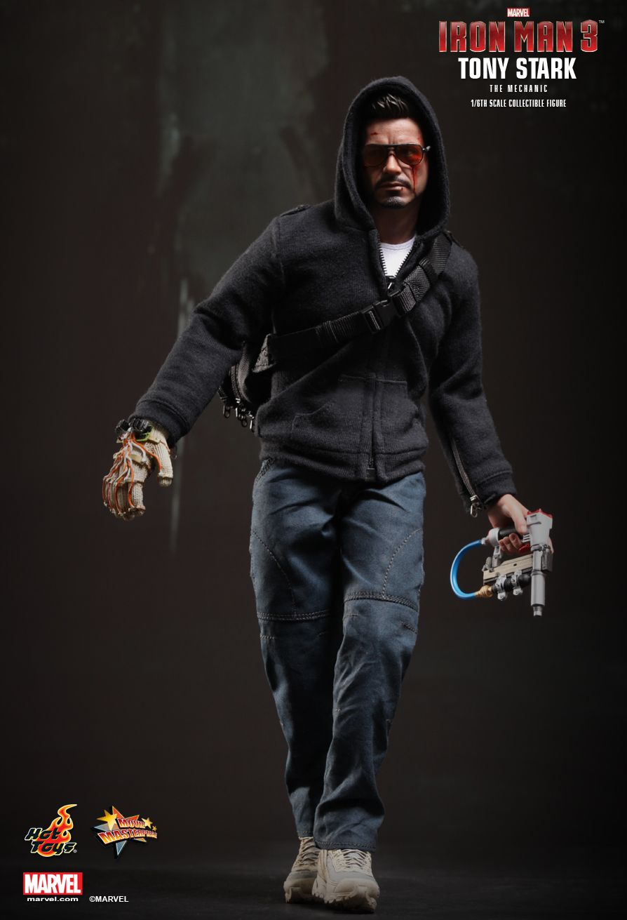 Hot Toys : Iron Man 3 - Tony Stark (The Mechanic) 1/6th ...