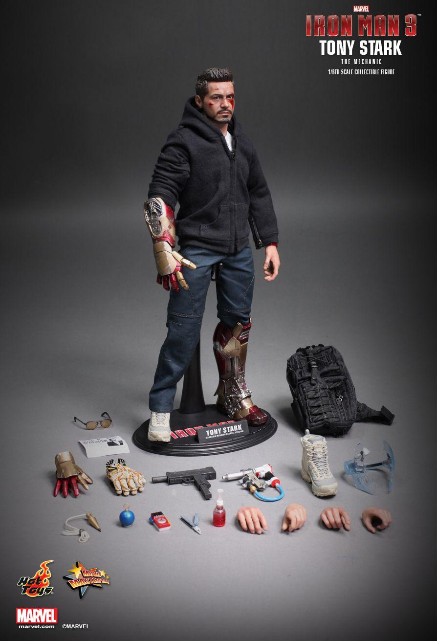 Hot Toys Iron Man 3 Tony Stark The Mechanic 1 6th