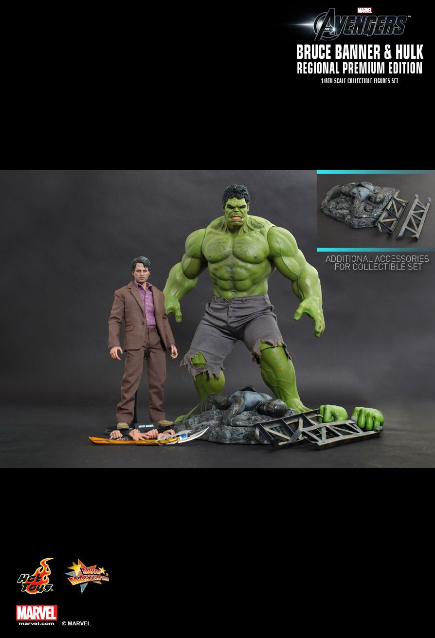 Hot Toys The Avengers BRUCE BANNER Figure 1//6 FIGURE STAND