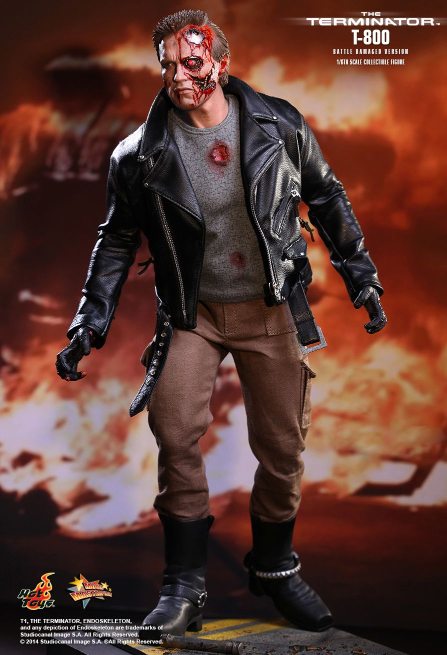 Hot Toys The Terminator MMS 238 T 800  Battle Damaged Version wqKIr1bP