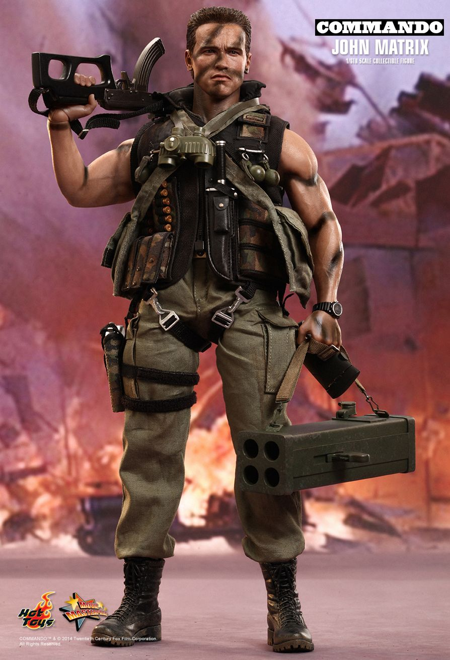 hot toys figurine john matrix commando  figurines hot toys  hot toys