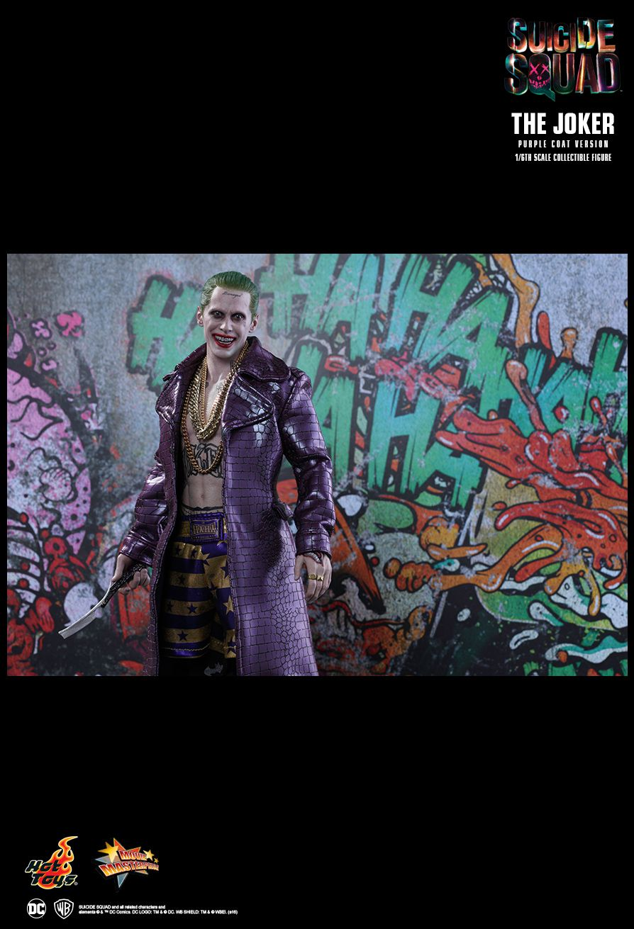 hot toys suicide squad the joker purple coat version