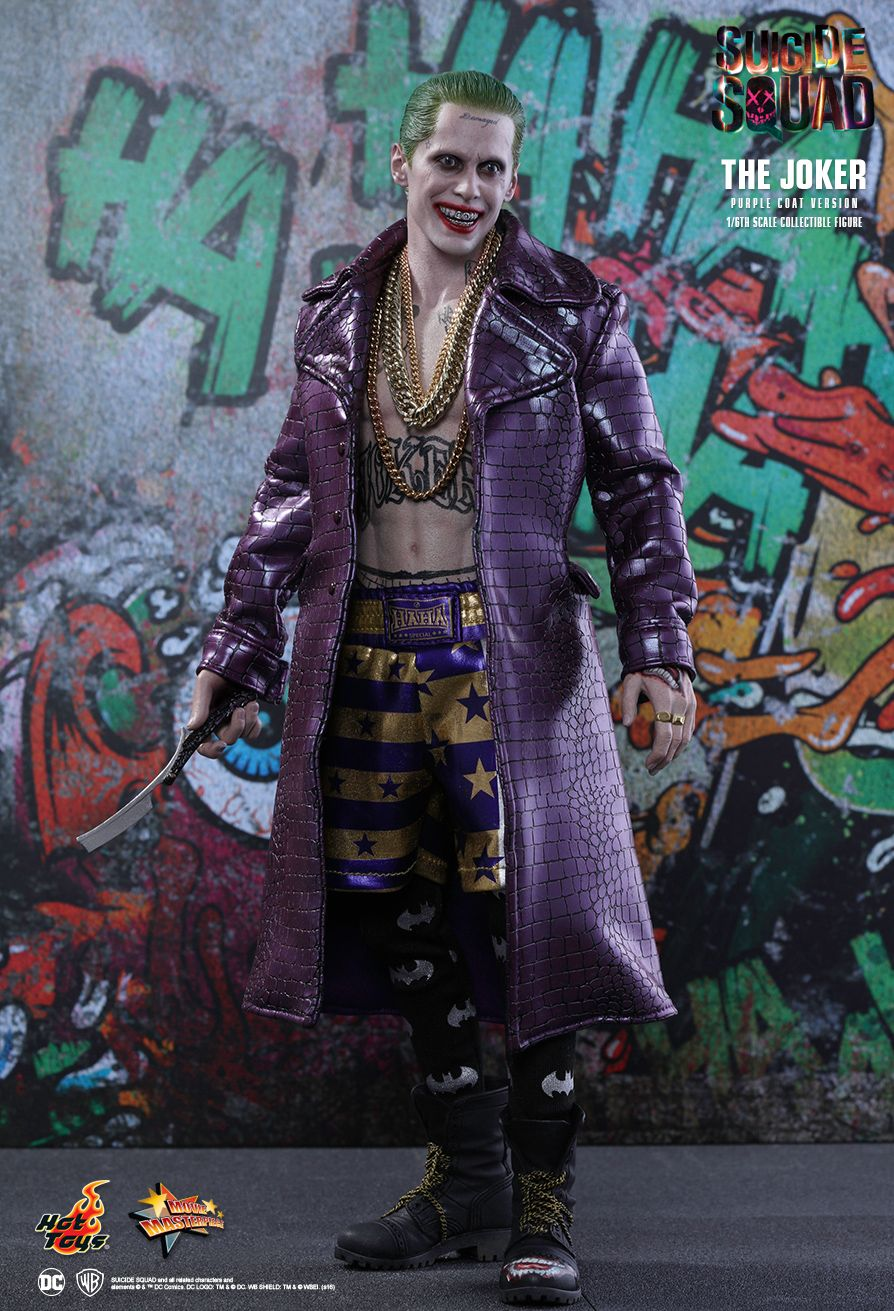 1//6 Scale Hot Toys MMS382 Suicide Squad The Joker Purple Coat Ver Body