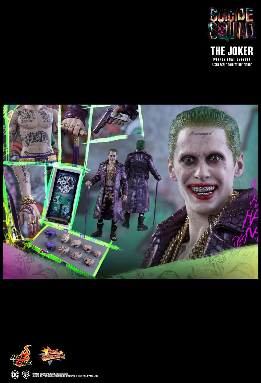 Hot Toys MMS382 Suicide Squad The Joker Purple Coat Version Special New