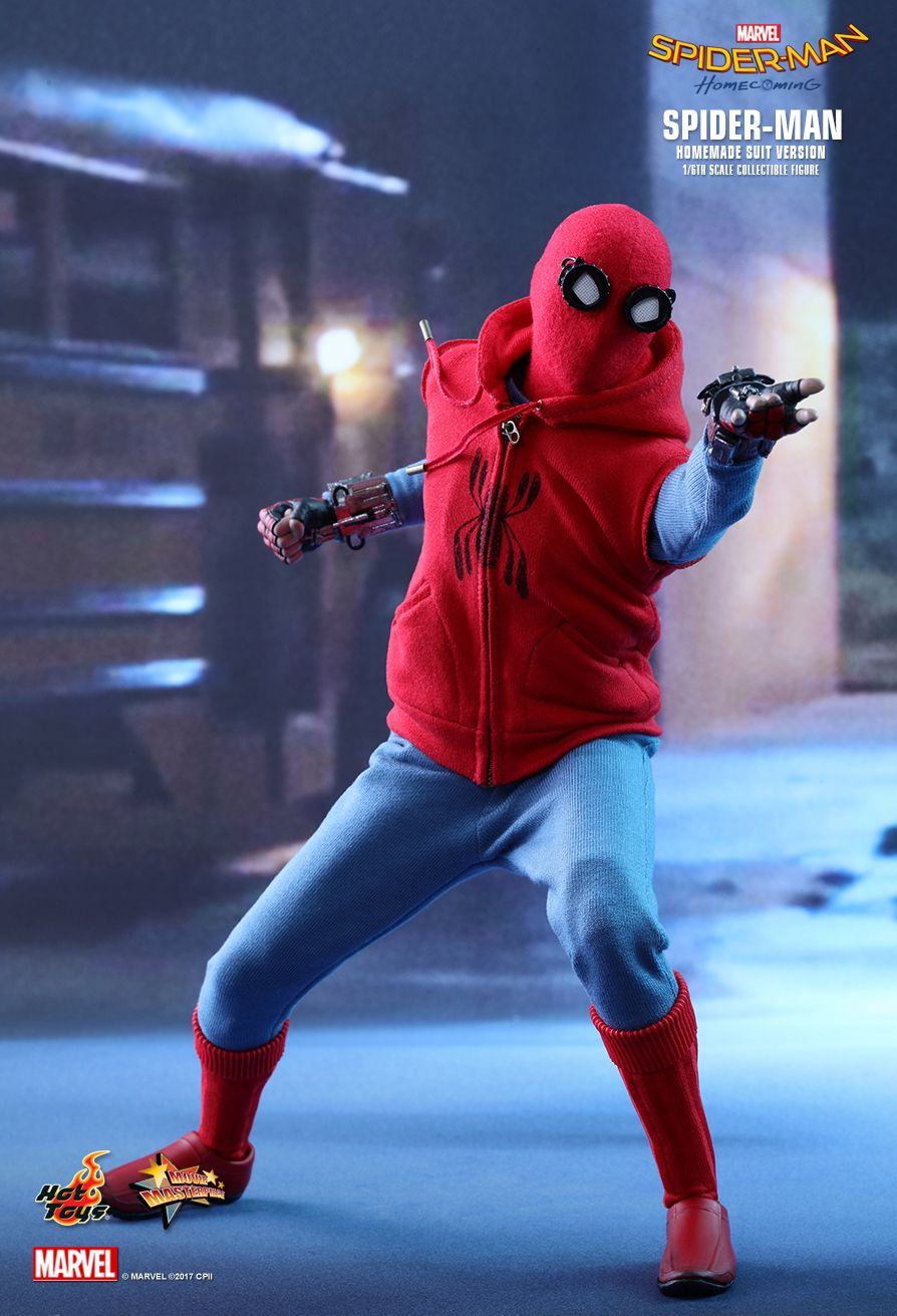 Hot Toys Spider Man Homecoming Spider Man Homemade