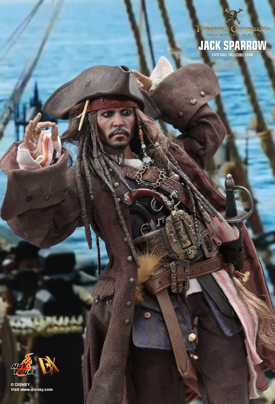 Hot Toys Pirates of Caribbean Dead Men Tell No Tales JACK SPARROW 1//6 HANDS #1