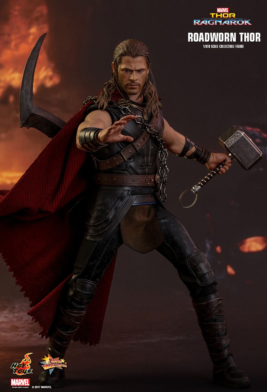 Hot Toys : Thor: Ragnarok - Roadworn Thor 1/6th scale ... Lightning Logo Design