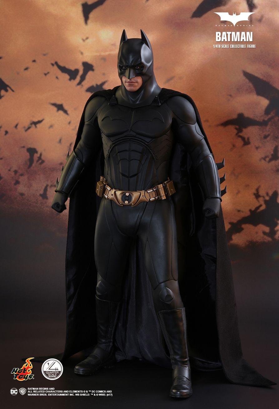 Hot Toys Batman Begins Quarter Scale QS009 Black Boots loose 1//4 scale
