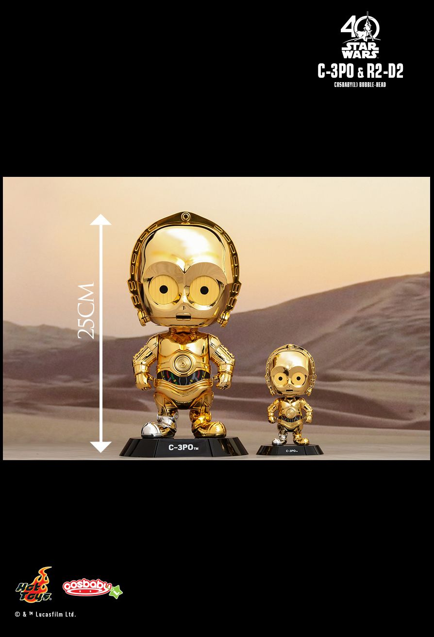 Hot Toys Cosbaby Star Wars-C-3PO /& R2 D2