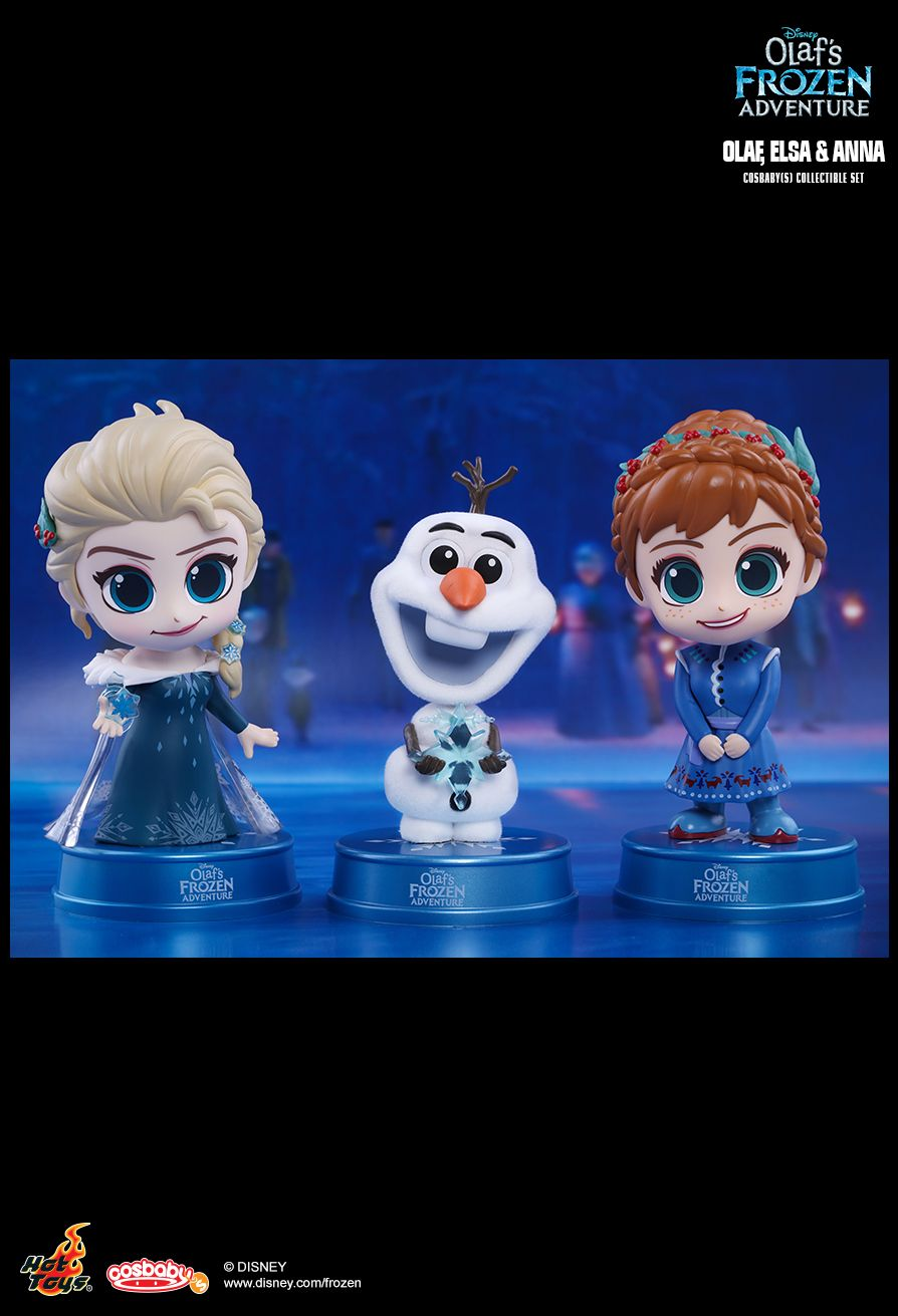 Hot Toys Olaf S Frozen Adventure Olaf Elsa Anna Cosbaby S Collectible Set