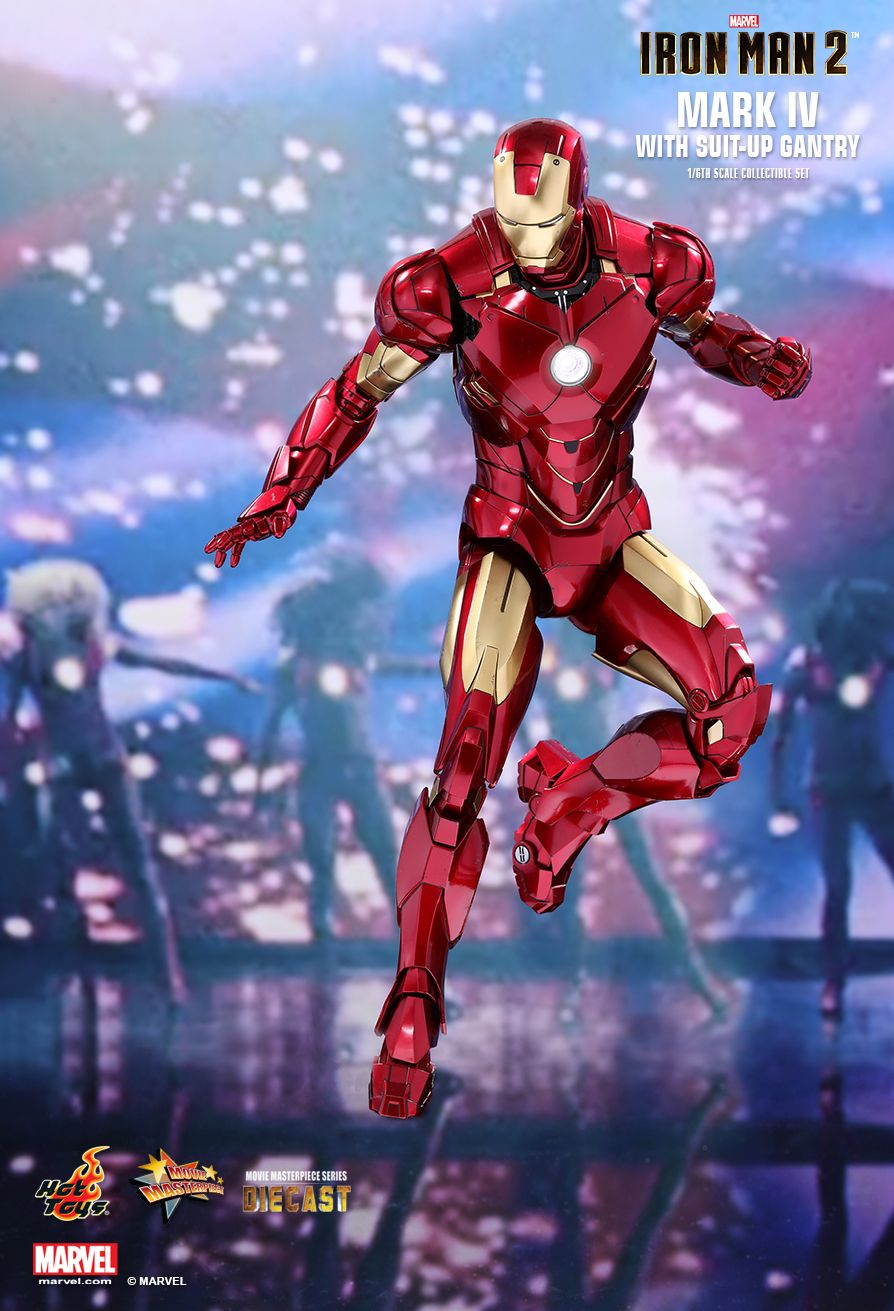 Hot Toys : Iron Man 2 - Mark IV with Suit-Up Gantry 1/6th