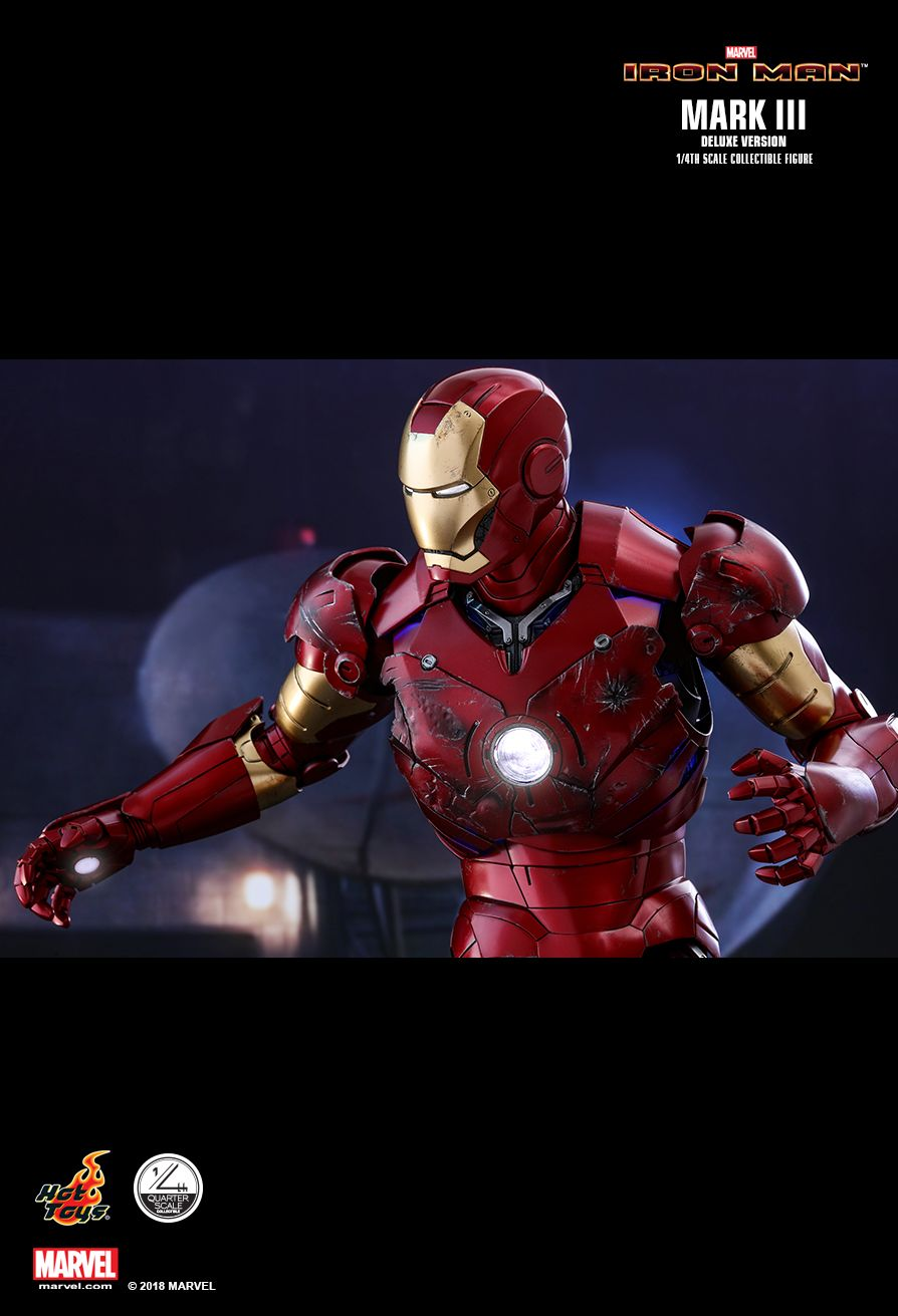 Hot Toys : Iron Man - Mark III (Deluxe Version) 1/4th scale Collectible Figure