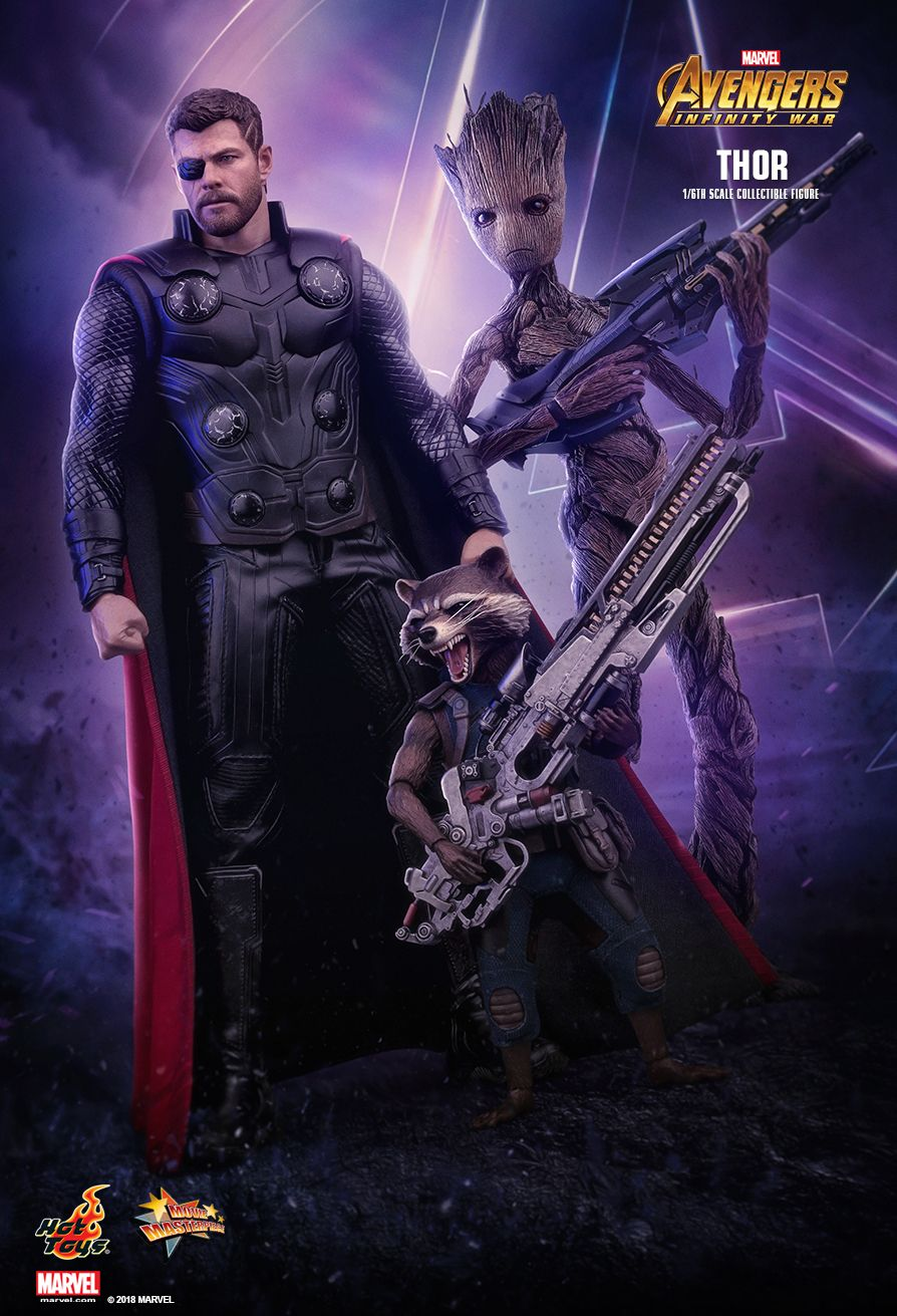 Hot Toys : Avengers: Infinity War - Thor 1/6th scale ... Lightning Logo Design