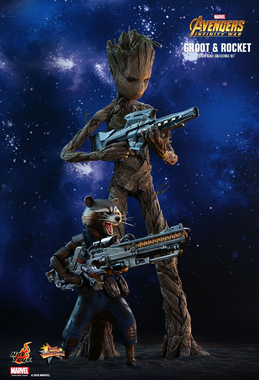 Hot Toys : Avengers: Infinity War - Groot & Rocket 1/6th scale Collectible Set