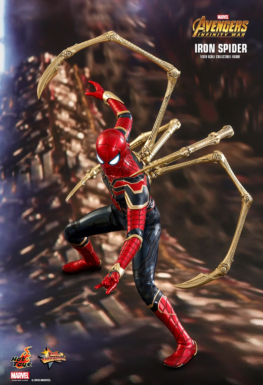 Hot toys avengers infinity war iron spider 1 6th - Spiderman and ironman wallpaper ...