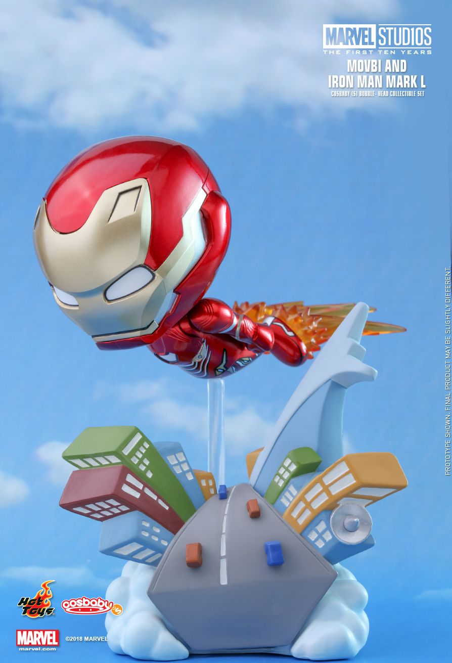 Hot Toys : Marvel Studios: The First Ten Years - Movbi and Iron Man Mark L Cosbaby (S) Bobble-Head