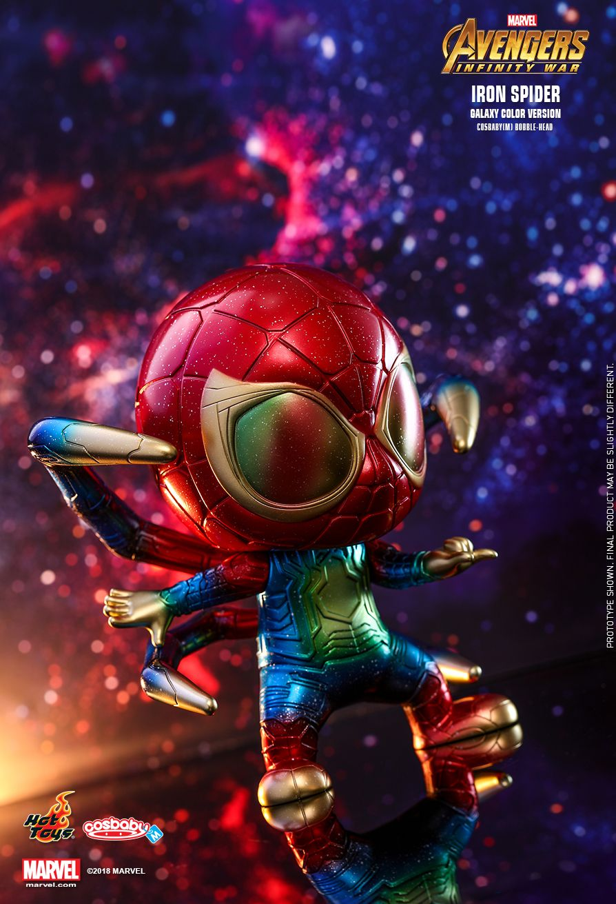 Hot Toys : Avengers: Infinity War - Iron Spider (Galaxy Color Version) Cosbaby (M) Bobble-Head