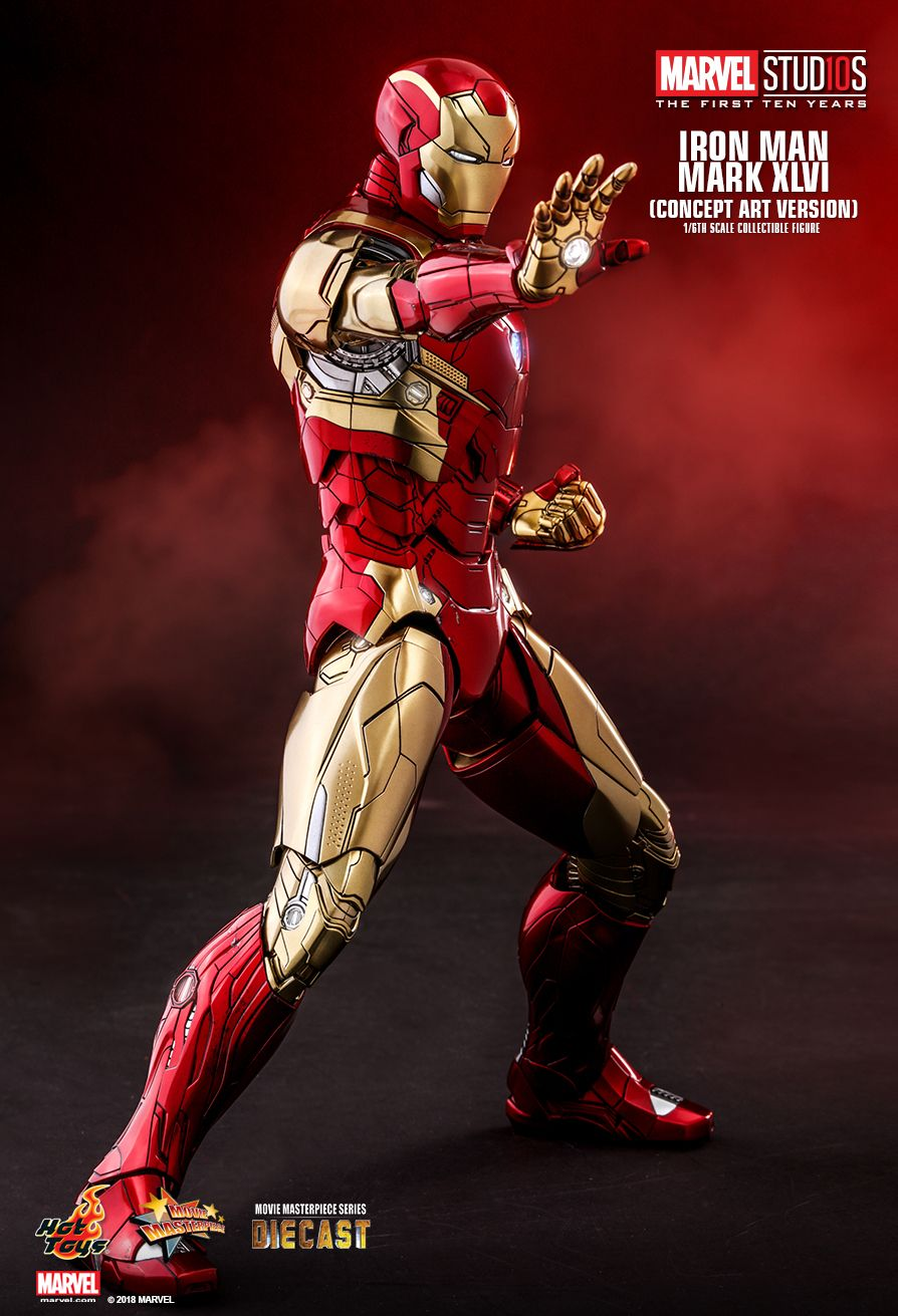 Hot Toys : Marvel Studios: The First Ten Years - Iron Man Mark XLVI (Concept Art Version) 1/6th scale Collectible Figure