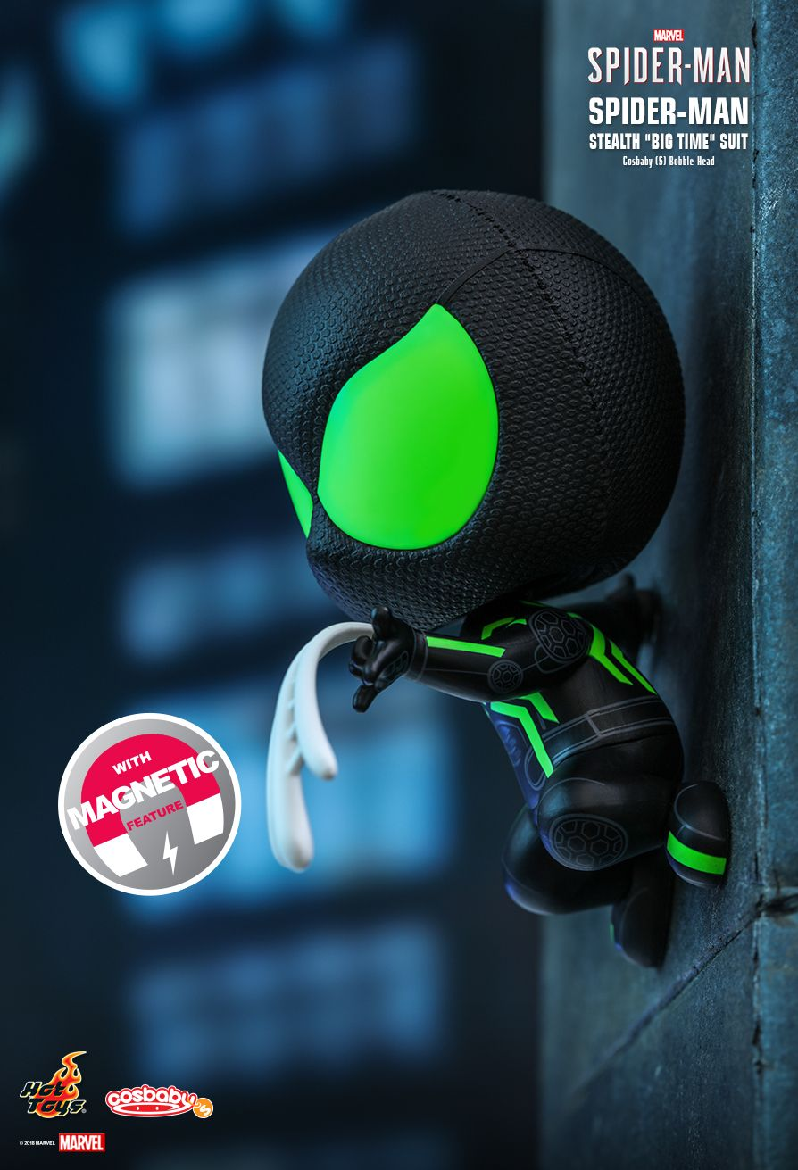 "Hot Toys : Marvel's Spider-Man - Spider-Man (Stealth ""Big Time"" Suit) Cosbaby (S) Bobble-Head"