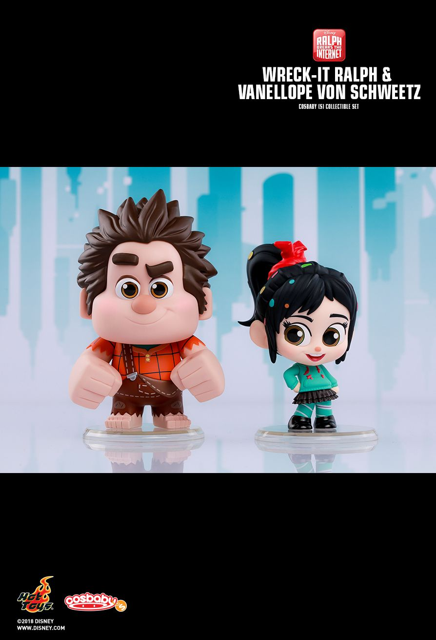 Hot Toys : Ralph Breaks the Internet - Wreck-It Ralph & Vanellope von Schweetz Cosbaby (S) Set