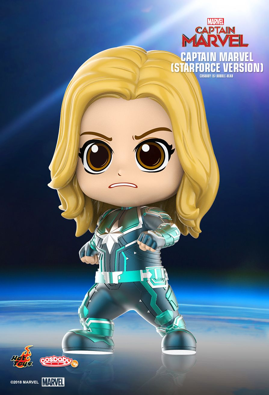 Hot Toys : Captain Marvel - Captain Marvel Cosbaby (S) Bobble-Head