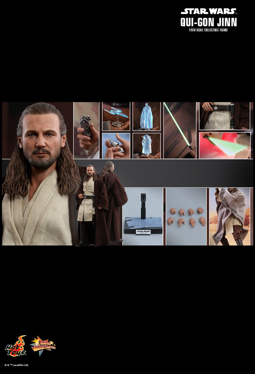 Hot Toys : Star Wars: Episode I - The Phantom Menace - Qui-Gon Jinn 1/6th scale Collectible Figure