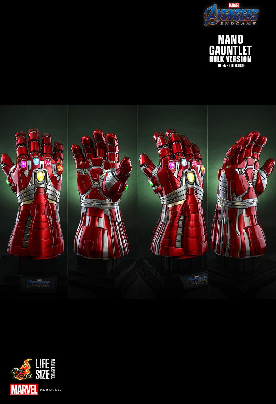 Hot Toys : Avengers: Endgame - Nano Gauntlet (Hulk Version) Life-Size Collectible