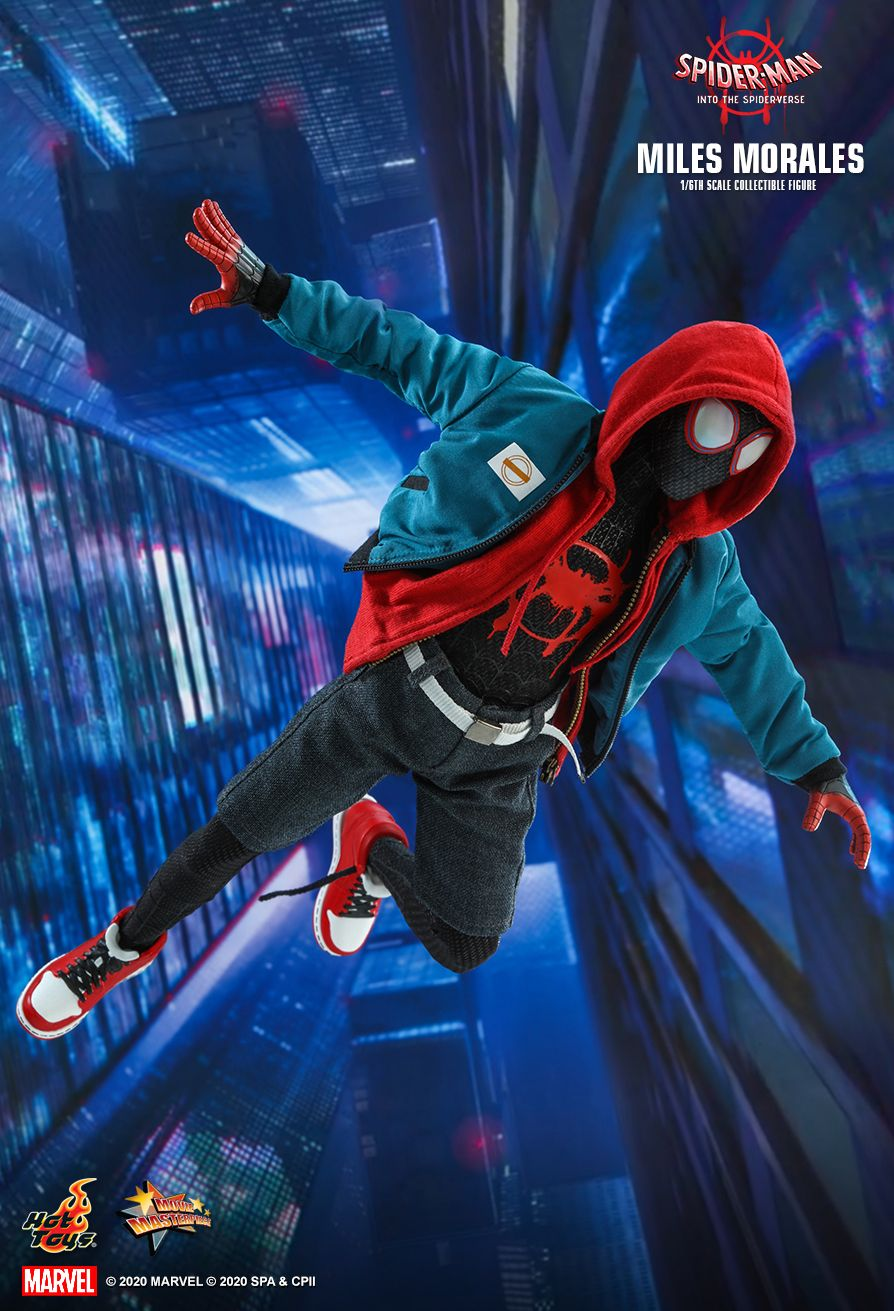 Into the Spider-Verse Spider-Man Miles Morales Hot Toys 1//6 MMS567